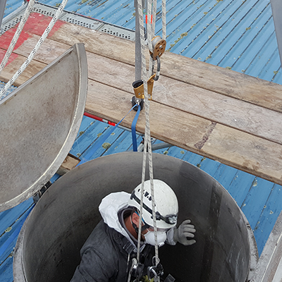 Confined spaces work
