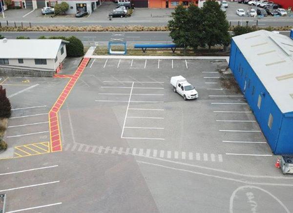 Car parking line marking