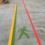 Pedestrian line marking